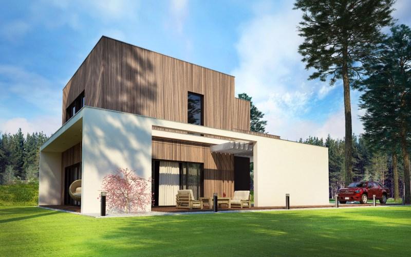 Super Domy nowoczesne seria WOODHOUSE - Domy drewniane domy mieszkalne GE48